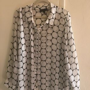 Lane Bryant sheer dot blouse 26/28